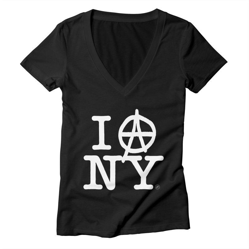 I Ⓐ NY (Antifa Version) Women's V-Neck by 691NYC