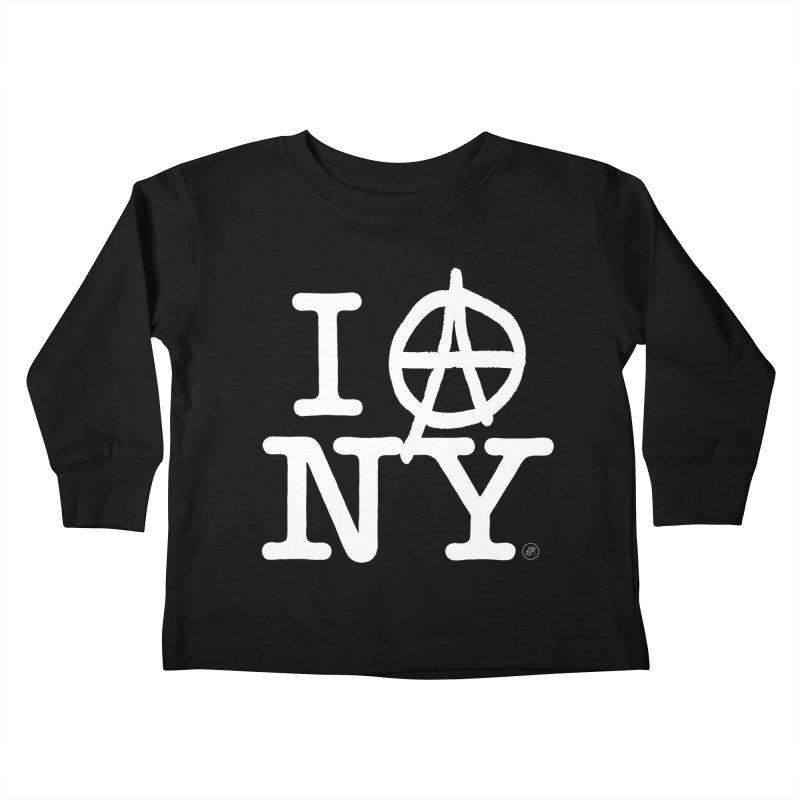 I Ⓐ NY (Antifa Version) Kids Toddler Longsleeve T-Shirt by 691NYC
