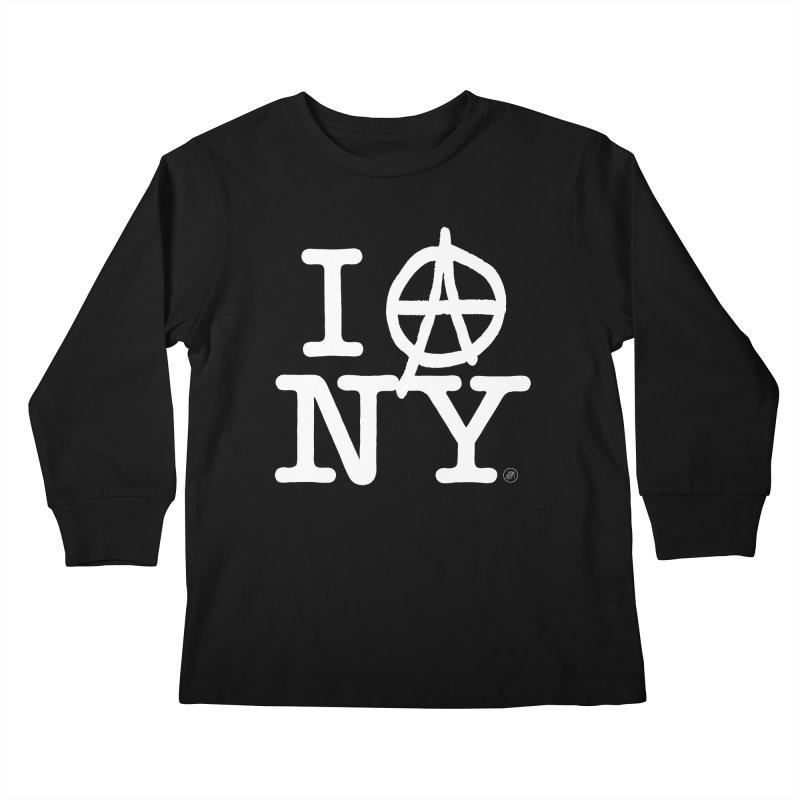 I Ⓐ NY (Antifa Version) Kids Longsleeve T-Shirt by 691NYC