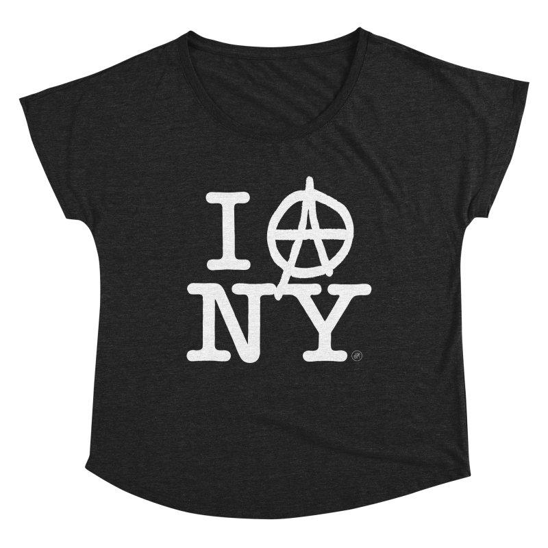 I Ⓐ NY (Antifa Version) Women's Scoop Neck by 691NYC
