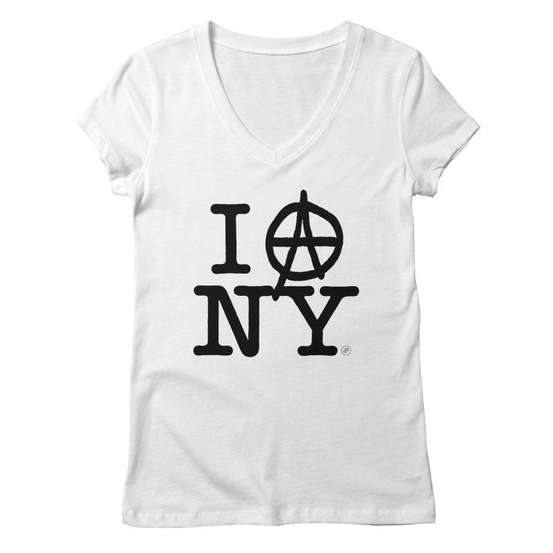 I Ⓐ NY (SJW Version) Women's V-Neck by 691NYC