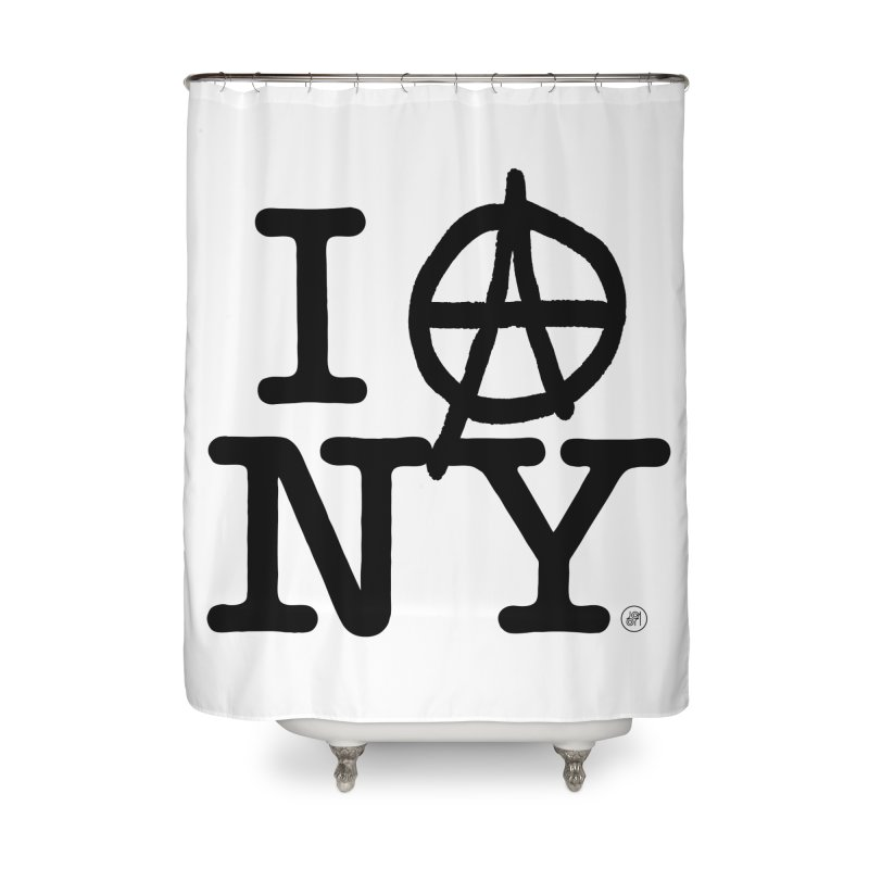 I Ⓐ NY (SJW Version) Home Shower Curtain by 691NYC