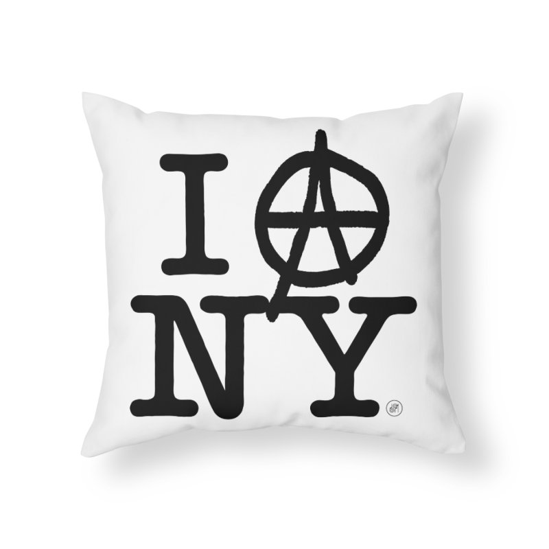 I Ⓐ NY (SJW Version) Home Throw Pillow by 691NYC