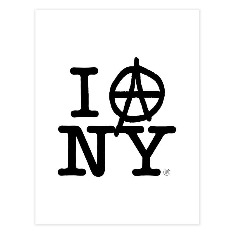 I Ⓐ NY (SJW Version) Home Fine Art Print by 691NYC