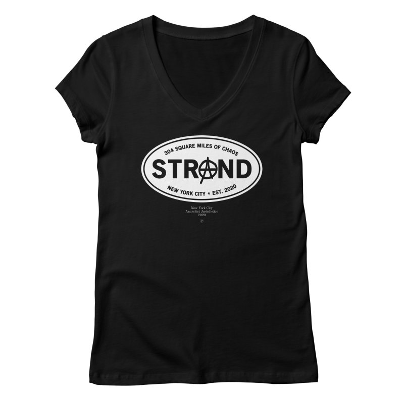 Anarchy at the Strand Women's V-Neck by 691NYC