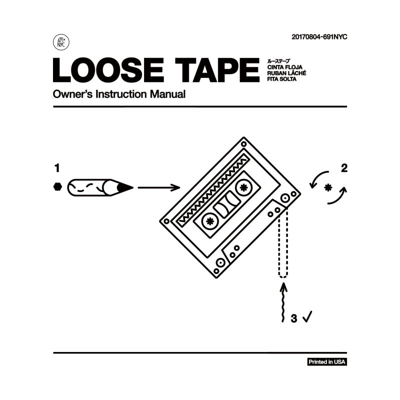 Loose Tape, Ver. 1 Men's T-Shirt by 691NYC