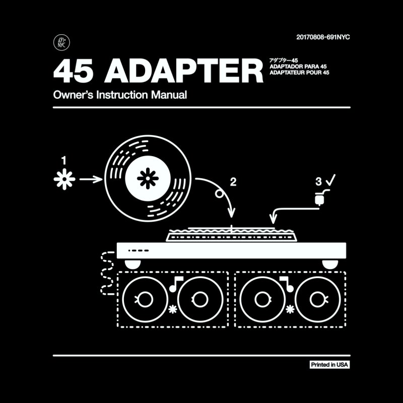 45 Adapter, Ver. 2 Men's T-Shirt by 691NYC