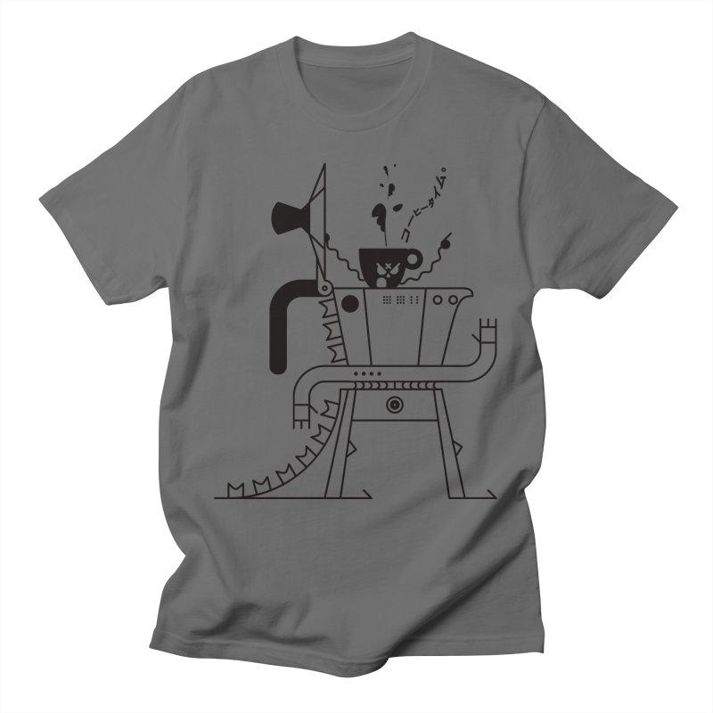 Mokagodzilla Runs on Coffee Time, № 1 Men's T-Shirt by 691NYC