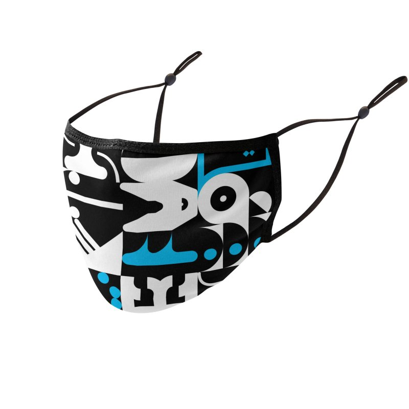 Yo, Back the Fuck Up, B, № 2 Accessories Face Mask by 691NYC
