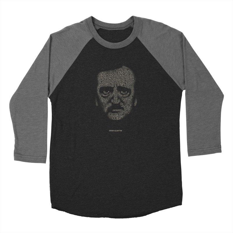 Edgar Allan Poe - A Portrait of Madness Men's Baseball Triblend Longsleeve T-Shirt by 6amcrisis's Artist Shop