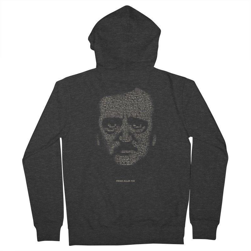 Edgar Allan Poe - A Portrait of Madness Men's Zip-Up Hoody by 6amcrisis's Artist Shop