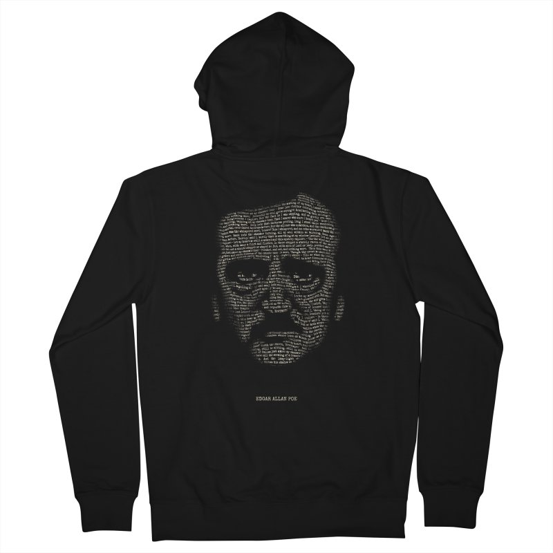 Edgar Allan Poe - A Portrait of Madness Men's French Terry Zip-Up Hoody by 6amcrisis's Artist Shop