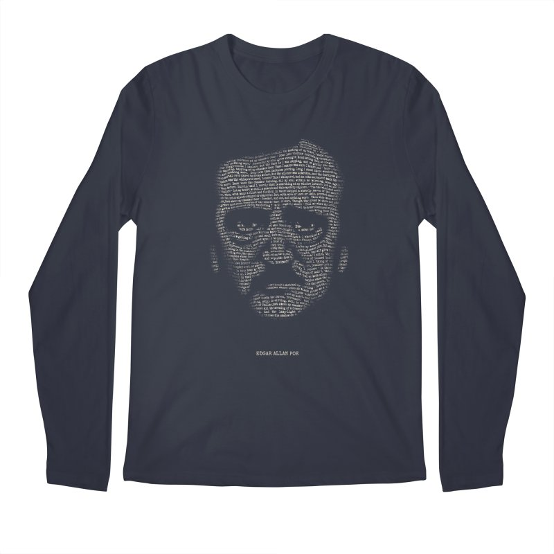 Edgar Allan Poe - A Portrait of Madness Men's Regular Longsleeve T-Shirt by 6amcrisis's Artist Shop