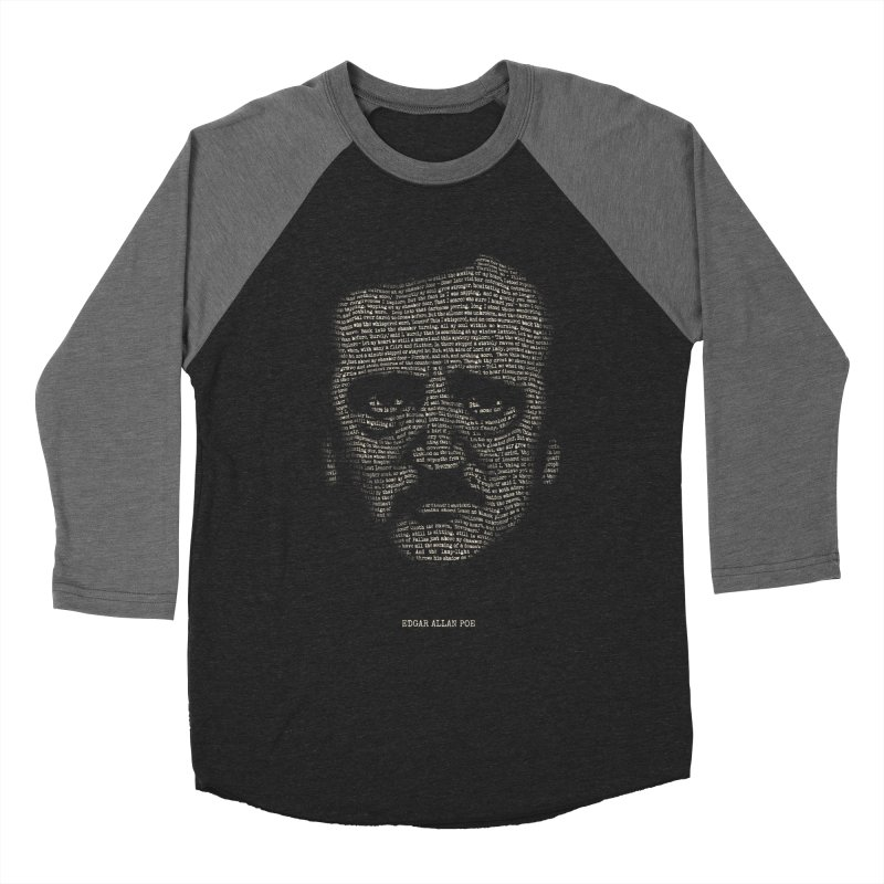 Edgar Allan Poe - A Portrait of Madness Men's Baseball Triblend Longsleeve T-Shirt by 6amcrisis's Artist Shop