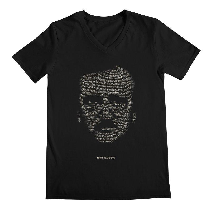 Edgar Allan Poe - A Portrait of Madness Men's Regular V-Neck by 6amcrisis's Artist Shop