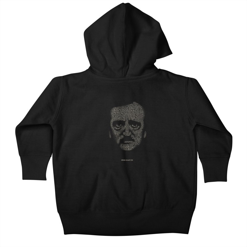 Edgar Allan Poe - A Portrait of Madness Kids Baby Zip-Up Hoody by 6amcrisis's Artist Shop