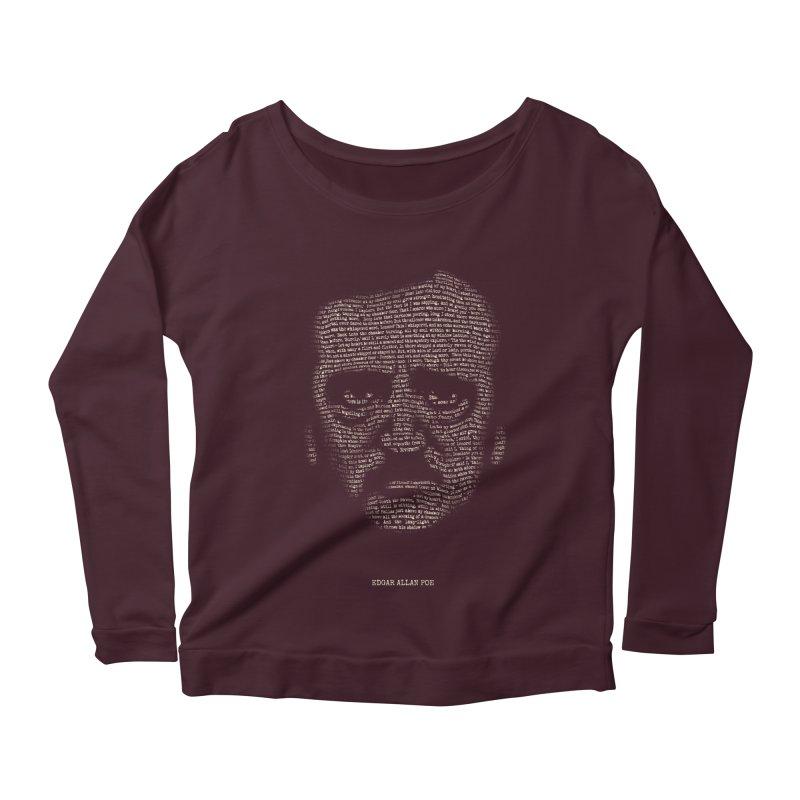 Edgar Allan Poe - A Portrait of Madness Women's Scoop Neck Longsleeve T-Shirt by 6amcrisis's Artist Shop