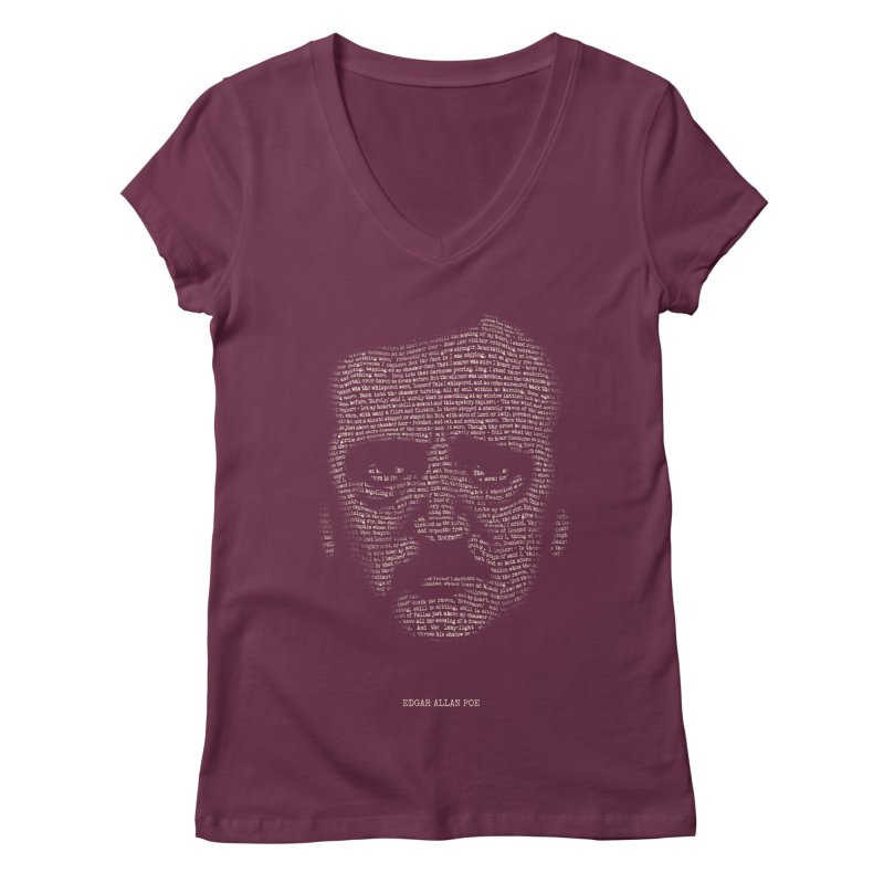 Edgar Allan Poe - A Portrait of Madness Women's V-Neck by 6amcrisis's Artist Shop