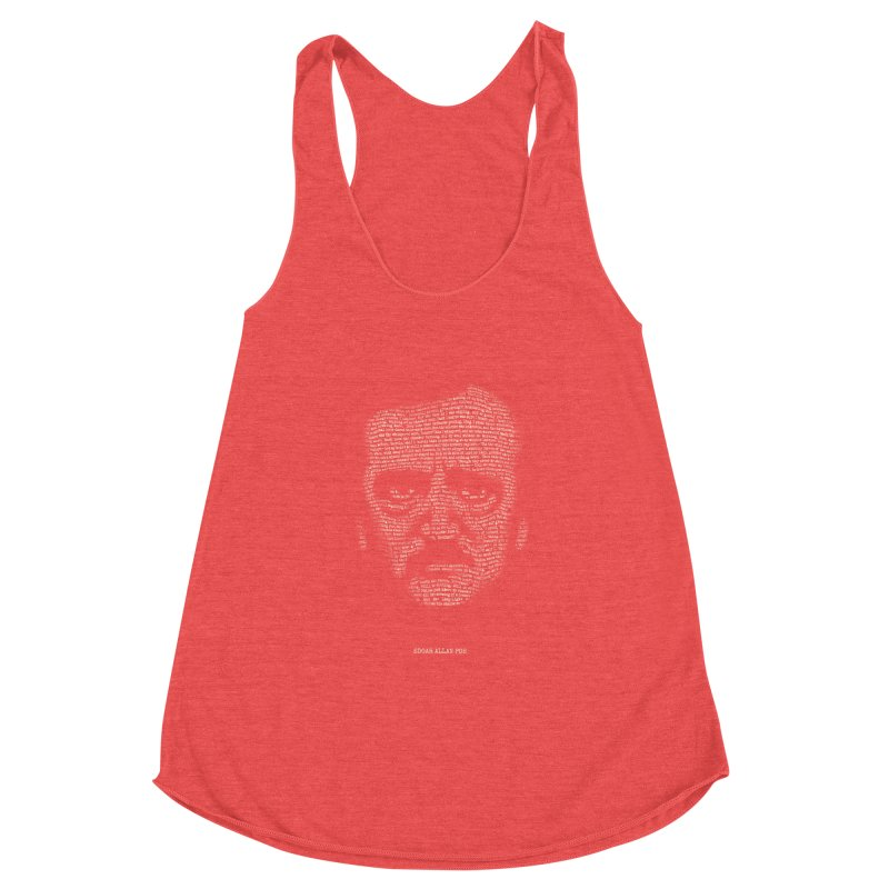 Edgar Allan Poe - A Portrait of Madness Women's Racerback Triblend Tank by 6amcrisis's Artist Shop