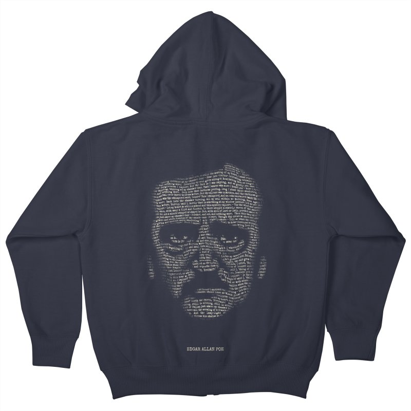 Edgar Allan Poe - A Portrait of Madness Kids Zip-Up Hoody by 6amcrisis's Artist Shop