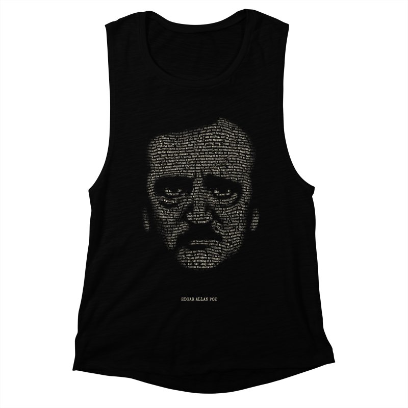 Edgar Allan Poe - A Portrait of Madness Women's Muscle Tank by 6amcrisis's Artist Shop