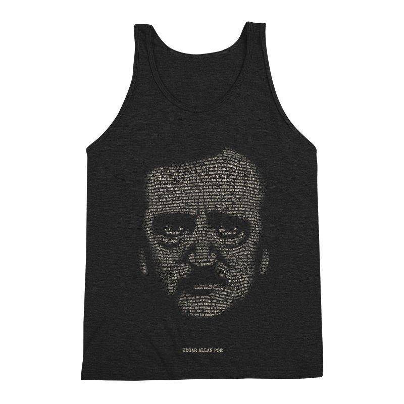 Edgar Allan Poe - A Portrait of Madness Men's Triblend Tank by 6amcrisis's Artist Shop