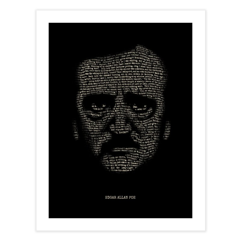 Edgar Allan Poe - A Portrait of Madness Home Fine Art Print by 6amcrisis's Artist Shop
