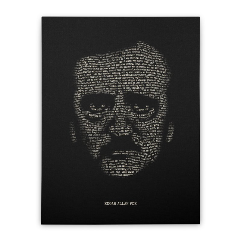 Edgar Allan Poe - A Portrait of Madness Home Stretched Canvas by 6amcrisis's Artist Shop