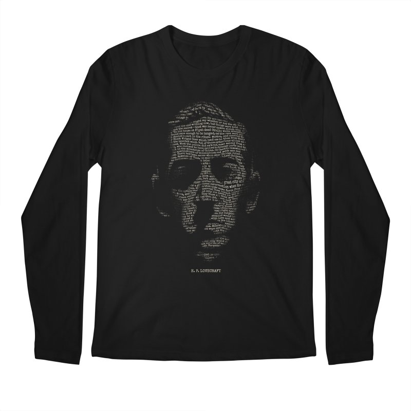H.P. Lovecraft - Necronomicon Men's Regular Longsleeve T-Shirt by 6amcrisis's Artist Shop