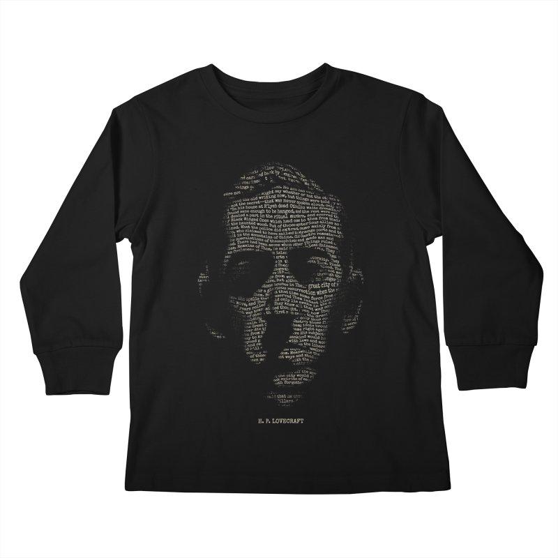 H.P. Lovecraft - Necronomicon Kids Longsleeve T-Shirt by 6amcrisis's Artist Shop