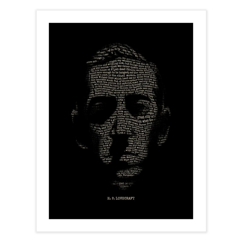 H.P. Lovecraft - Necronomicon Home Fine Art Print by 6amcrisis's Artist Shop