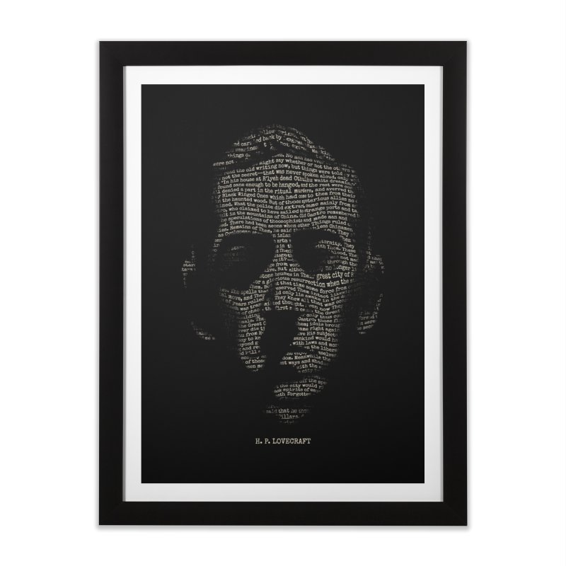 H.P. Lovecraft - Necronomicon Home Framed Fine Art Print by 6amcrisis's Artist Shop