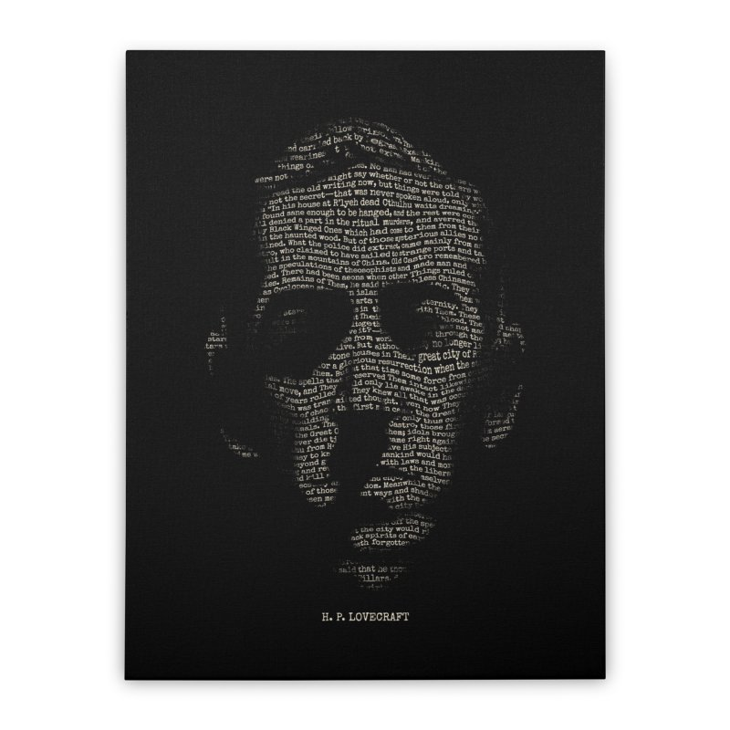 H.P. Lovecraft - Necronomicon Home Stretched Canvas by 6amcrisis's Artist Shop