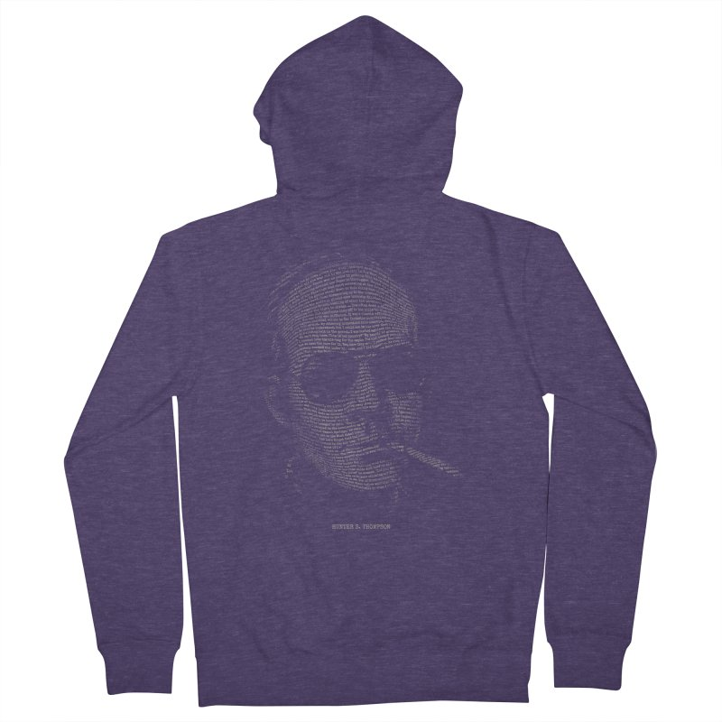 Hunter S. Thompson - Gonzo Men's French Terry Zip-Up Hoody by 6amcrisis's Artist Shop