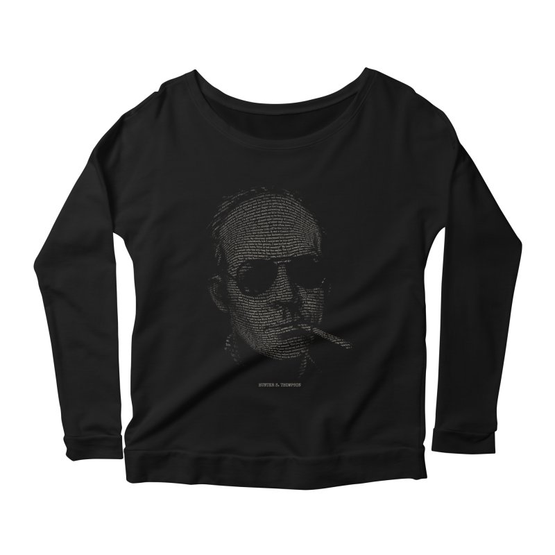 Hunter S. Thompson - Gonzo Women's Longsleeve Scoopneck  by 6amcrisis's Artist Shop