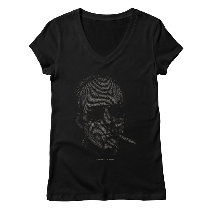 Hunter S. Thompson - Gonzo Women's V-Neck by 6amcrisis's Artist Shop