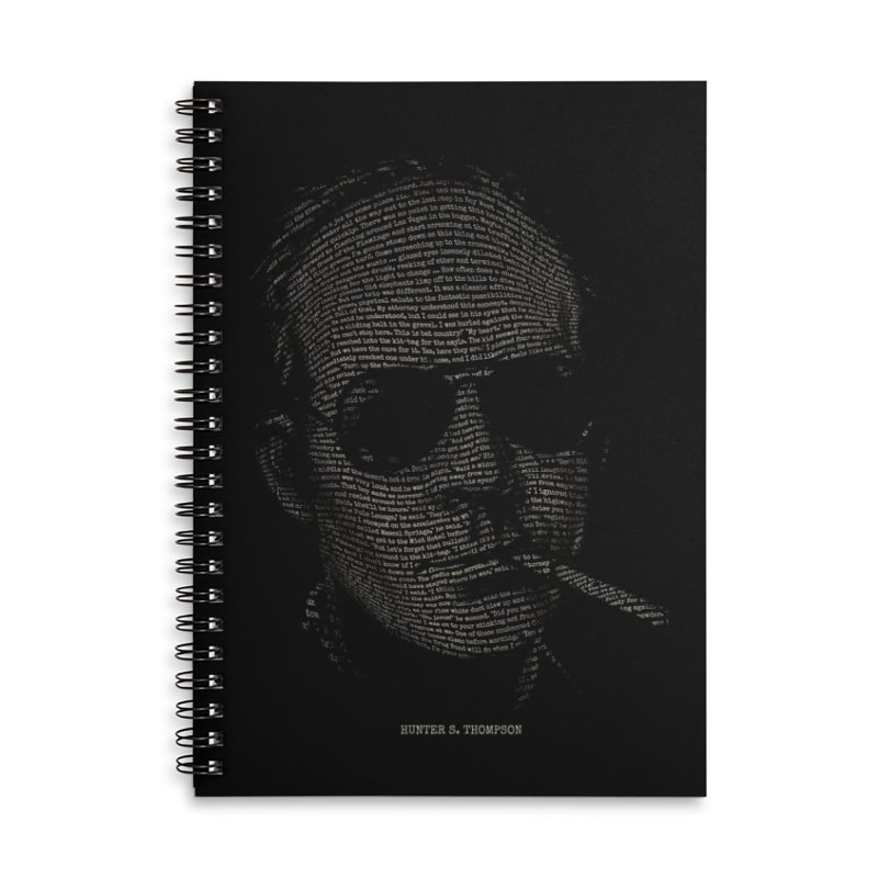 Hunter S. Thompson - Gonzo Accessories Lined Spiral Notebook by 6amcrisis's Artist Shop