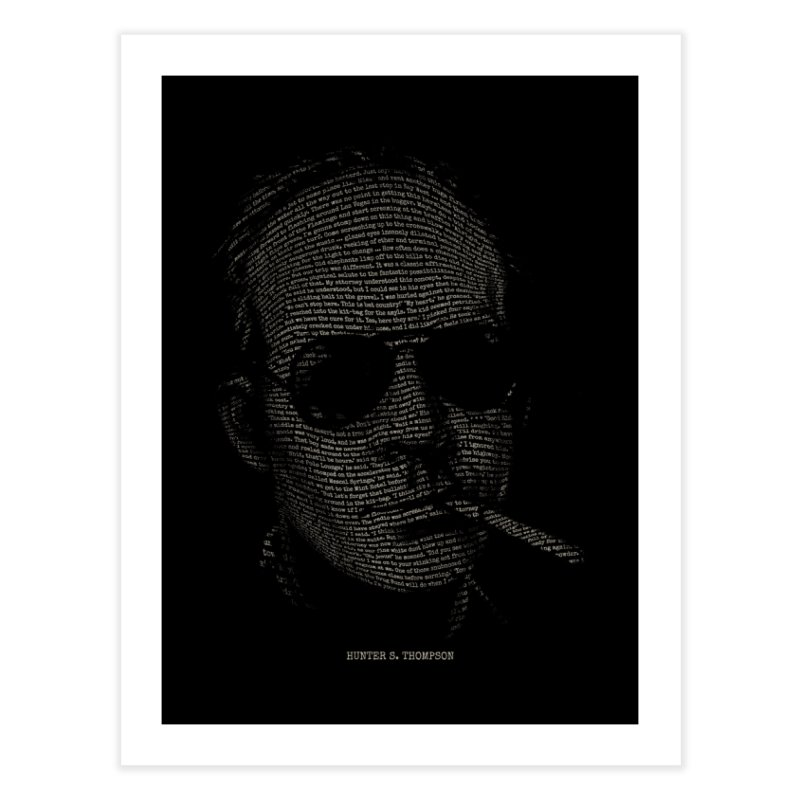 Hunter S. Thompson - Gonzo Home Fine Art Print by 6amcrisis's Artist Shop