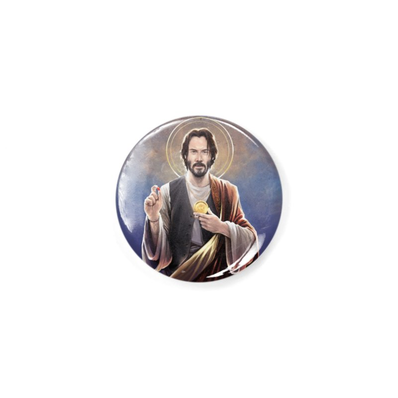 Keanu Reeves - Saint Keanu of Reeves Accessories Button by 6amcrisis's Artist Shop