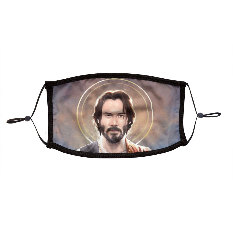 Keanu Reeves - Saint Keanu of Reeves Accessories Face Mask by 6amcrisis's Artist Shop