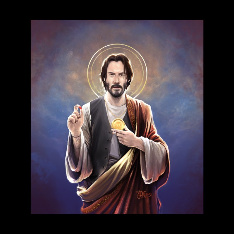 Keanu Reeves - Saint Keanu of Reeves Women's Longsleeve T-Shirt by 6amcrisis's Artist Shop