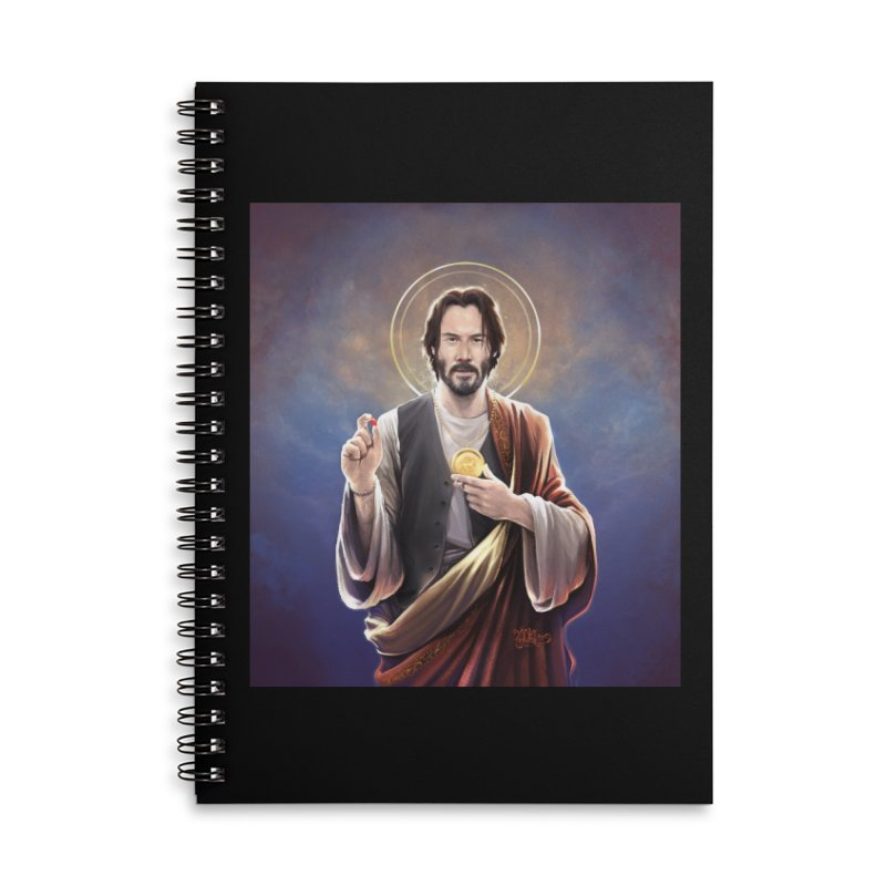 Keanu Reeves - Saint Keanu of Reeves Accessories Lined Spiral Notebook by 6amcrisis's Artist Shop