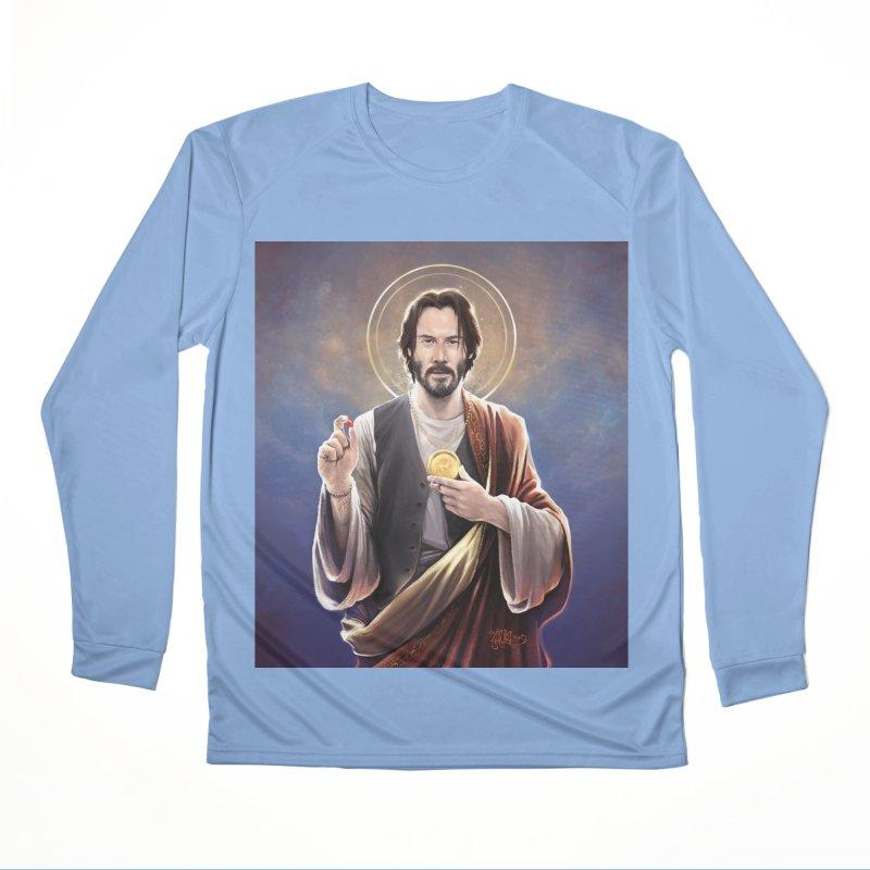 Keanu Reeves - Saint Keanu of Reeves Men's Performance Longsleeve T-Shirt by 6amcrisis's Artist Shop