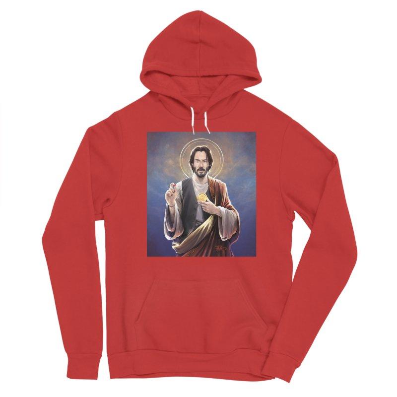 Keanu Reeves - Saint Keanu of Reeves Women's Sponge Fleece Pullover Hoody by 6amcrisis's Artist Shop