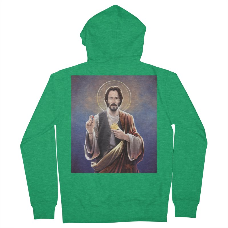 Keanu Reeves - Saint Keanu of Reeves Women's Zip-Up Hoody by 6amcrisis's Artist Shop