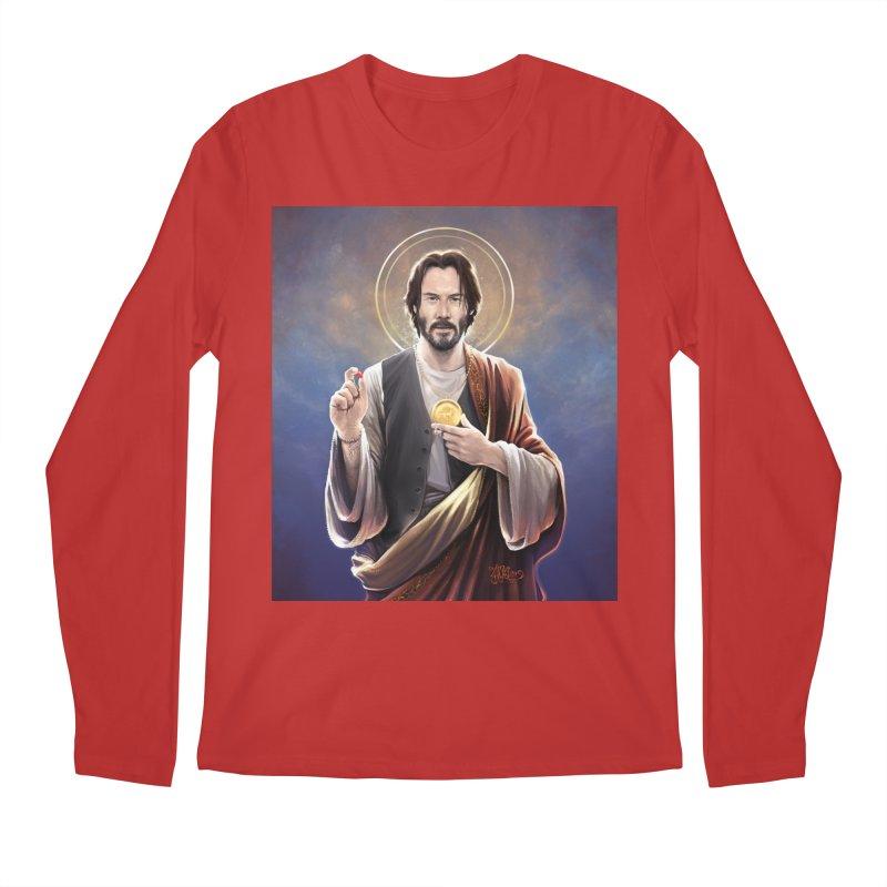 Keanu Reeves - Saint Keanu of Reeves Men's Regular Longsleeve T-Shirt by 6amcrisis's Artist Shop