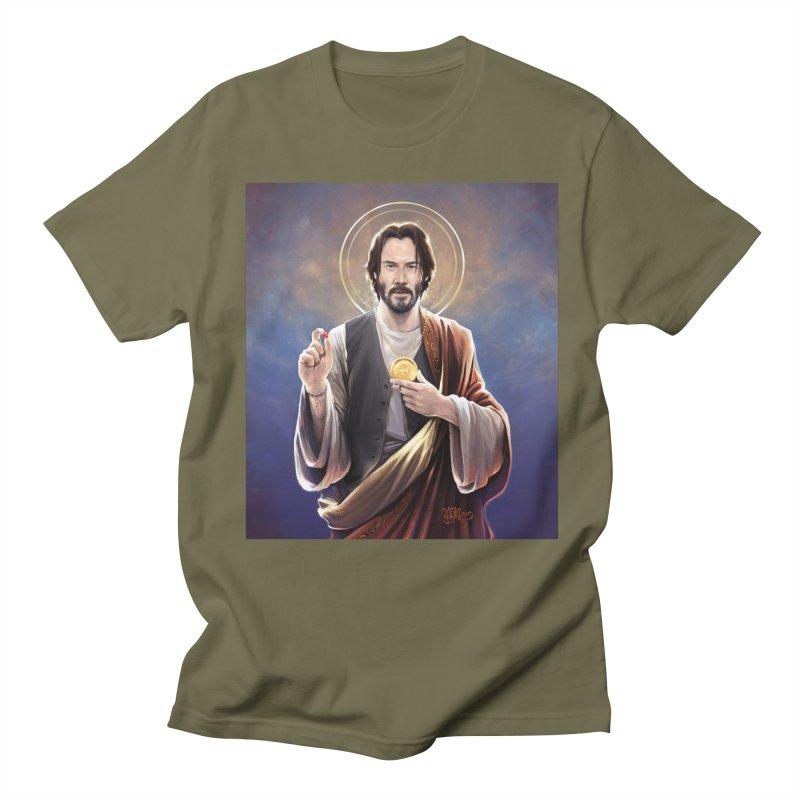 Keanu Reeves - Saint Keanu of Reeves Men's Regular T-Shirt by 6amcrisis's Artist Shop