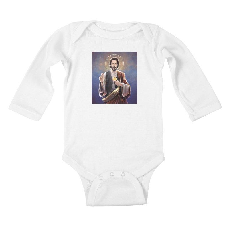 Keanu Reeves - Saint Keanu of Reeves Kids Baby Longsleeve Bodysuit by 6amcrisis's Artist Shop