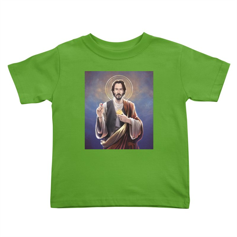 Keanu Reeves - Saint Keanu of Reeves Kids Toddler T-Shirt by 6amcrisis's Artist Shop