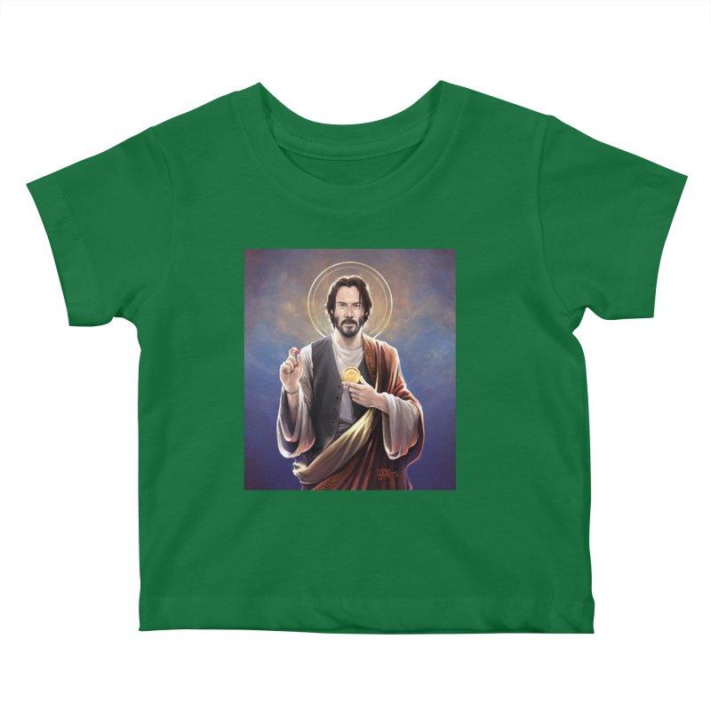 Keanu Reeves - Saint Keanu of Reeves Kids Baby T-Shirt by 6amcrisis's Artist Shop